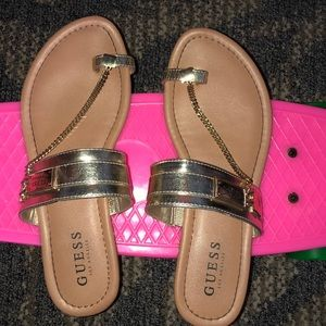 gold chained sandals
